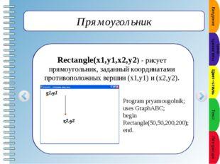 Окружность Circle(x,y,r) - рисует окружность с центром в точке (x,y) и радиу
