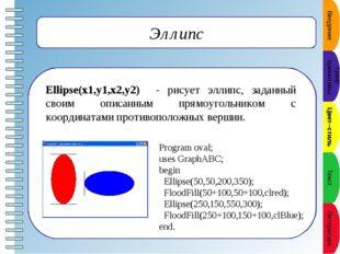 Вывод текста в графическое окно TextOut(x,y,'строка'); - выводит строку текс