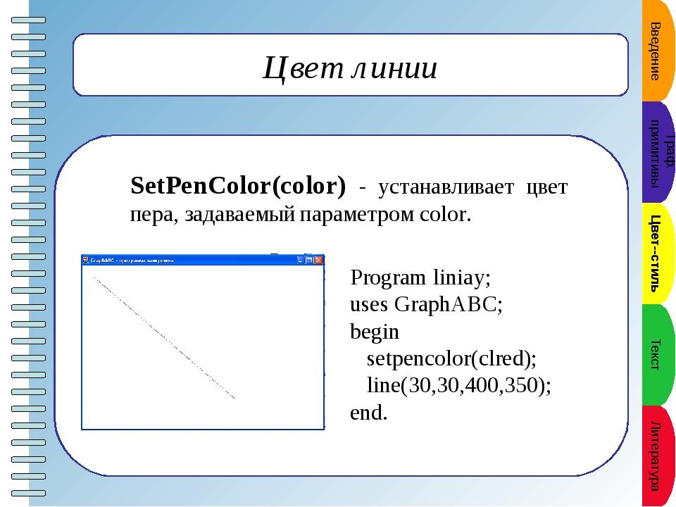 Прямоугольник Rectangle(x1,y1,x2,y2) - рисует прямоугольник, заданный коорди...