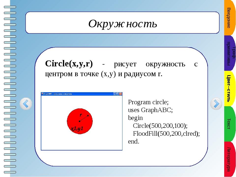 Сектор Pie(x,y,r,a1,a2) - рисует сектор окружности, ограниченный дугой (пара...