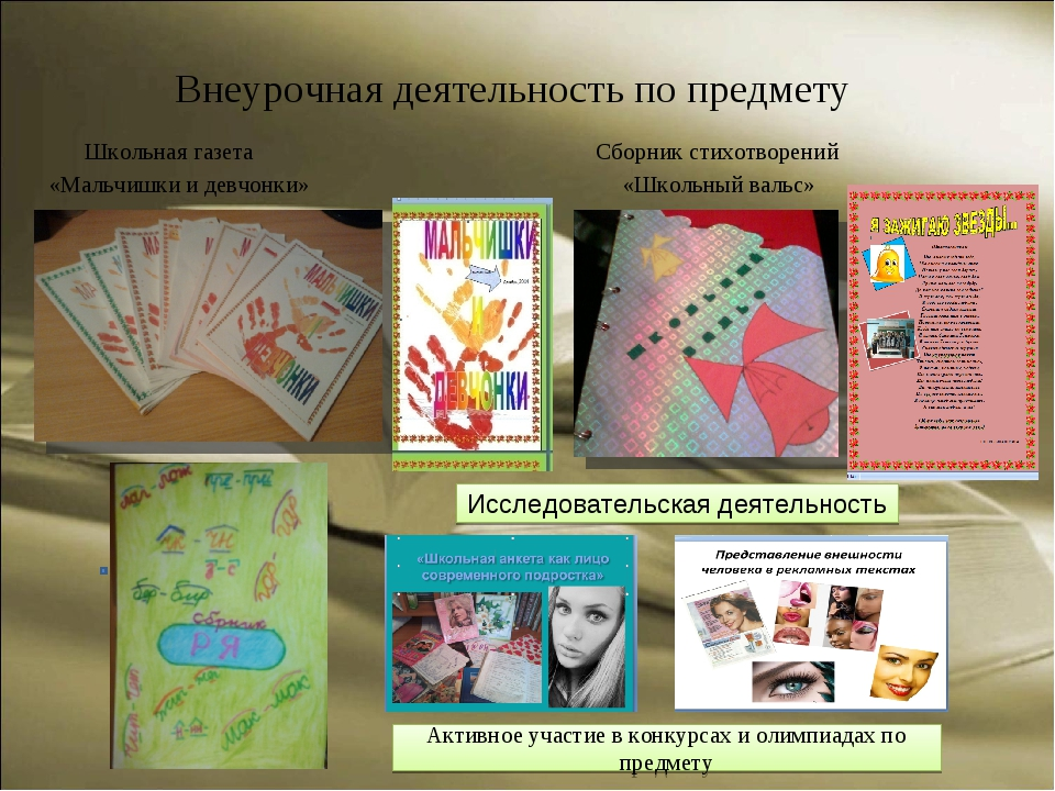 Внеурочная деятельность по предмету Школьная газета Сборник стихотворений «Ма...