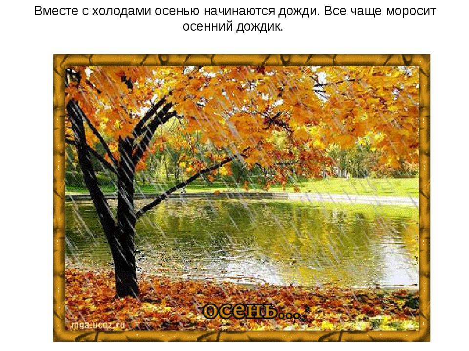 Вместе с холодами осенью начинаются дожди. Все чаще моросит осенний дождик.