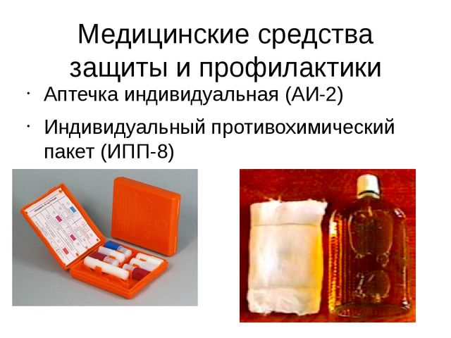 Медицинские средства защиты и профилактики Аптечка индивидуальная (АИ-2) Инди...