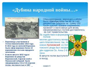 «Дубина народной войны…» Обмундирование, амуниция и обозы были приобретены та