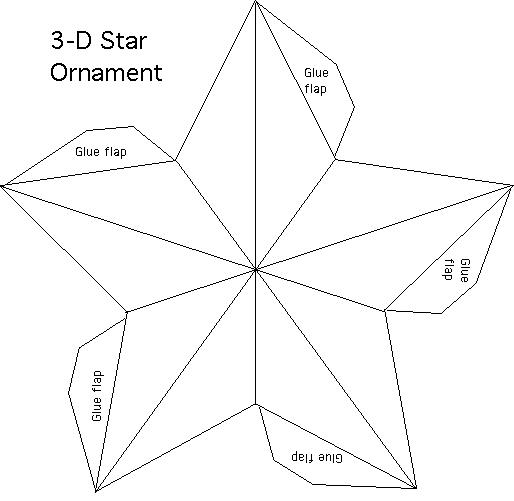 Схема объёмной звезды из бумаги своими руками