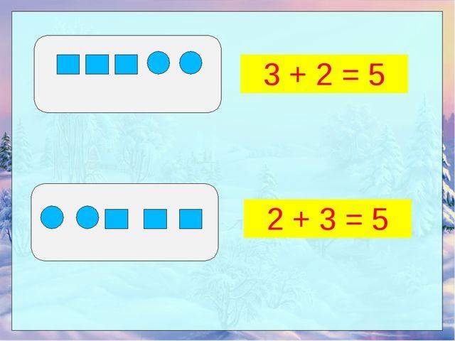 3 + 2 = 5 2 + 3 = 5
