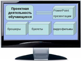 Проектная деятельность обучающихся PowerPoint  презентации брошюры буклеты в
