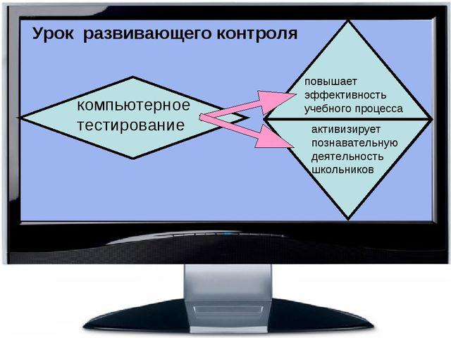 Урок развивающего контроля повышает эффективность учебного процесса активизи...
