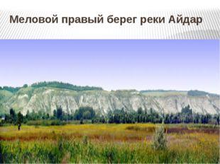 Меловой правый берег реки Айдар