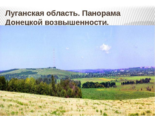 Луганская область. Панорама Донецкой возвышенности.