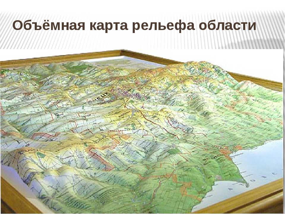 Объёмная карта рельефа области
