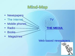 * Newspapers The Internet TV Mobile phones Radio THE MEDIA Books Magazines We