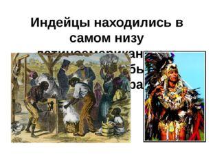 Индейцы находились в самом низу латиноамериканского общества и были полностью