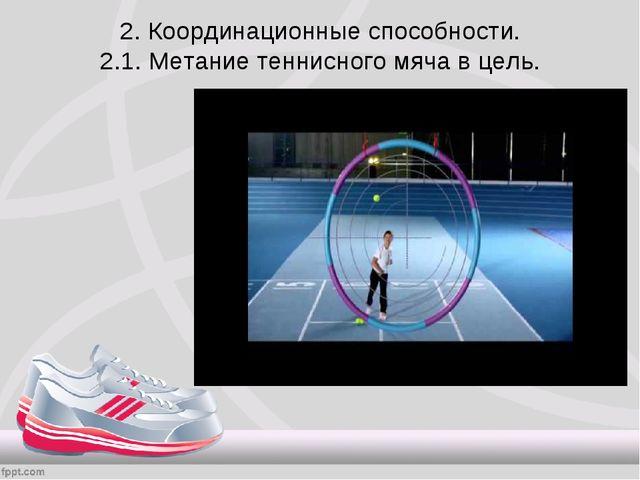 2. Координационные способности. 2.1. Метание теннисного мяча в цель.