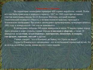 Уникальность Ильмен. На территории заповедника примерно 400 горных выработо
