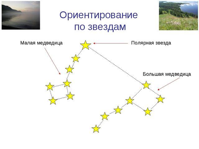 Ориентирование по звездам Малая медведица Большая медведица Полярная звезда