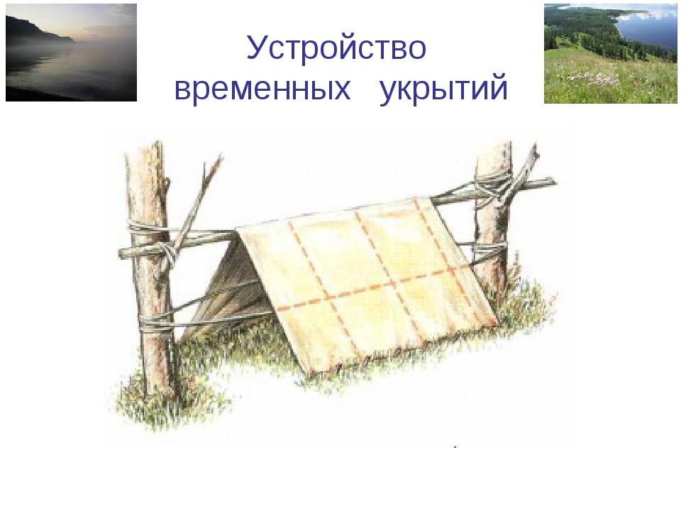 Сооружение временного укрытия из подручных средств презентация - Чай-клуб