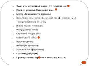 III Этап Технологическая направленность Театральная игра; Основы театральной