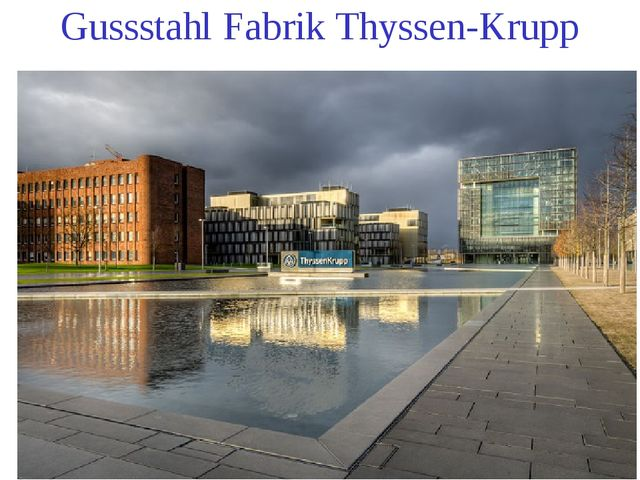 Gussstahl Fabrik Thyssen-Krupp