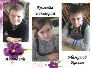 Коменда Виктория Зубков Анатолий Мамутов Руслан