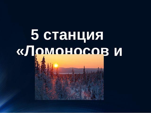 5 станция «Ломоносов и Север»