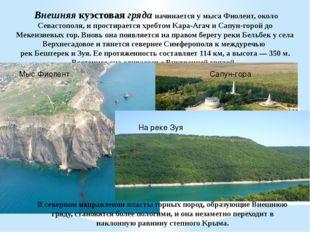 Внешняякуэстоваягряданачинается у мыса Фиолент, около Севастополя, и прос