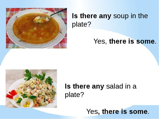 Is there any soup in the plate? Yes, there is some. Is there any salad in a p...