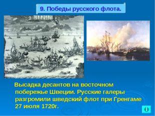 Высадка десантов на восточном побережье Швеции. Русские галеры разгромили шв