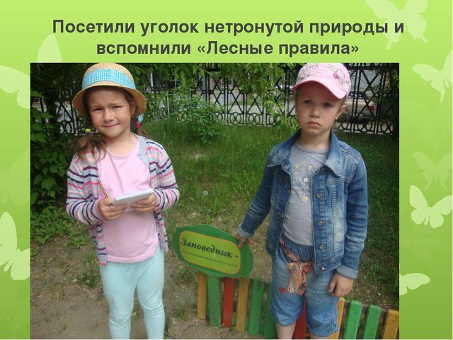 Посетили уголок нетронутой природы и вспомнили «Лесные правила»
