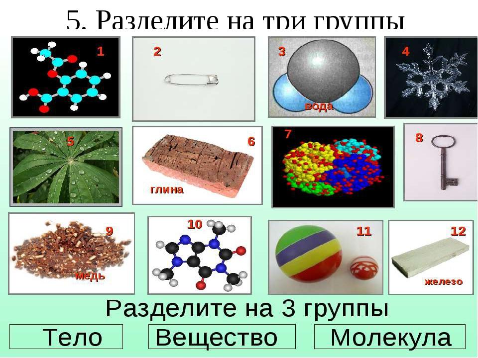 5. Разделите на три группы