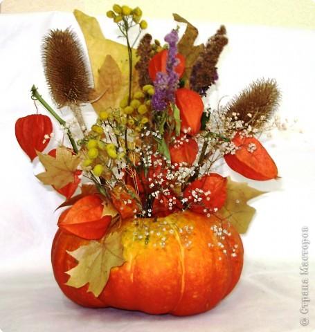 Осенний букет из природного материала своими руками для