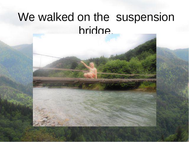 We walked on the suspension bridge.