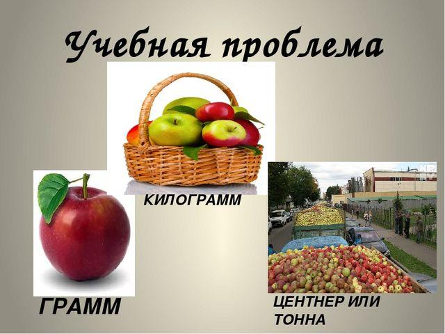 Учебная проблема ГРАММ КИЛОГРАММ ЦЕНТНЕР ИЛИ ТОННА