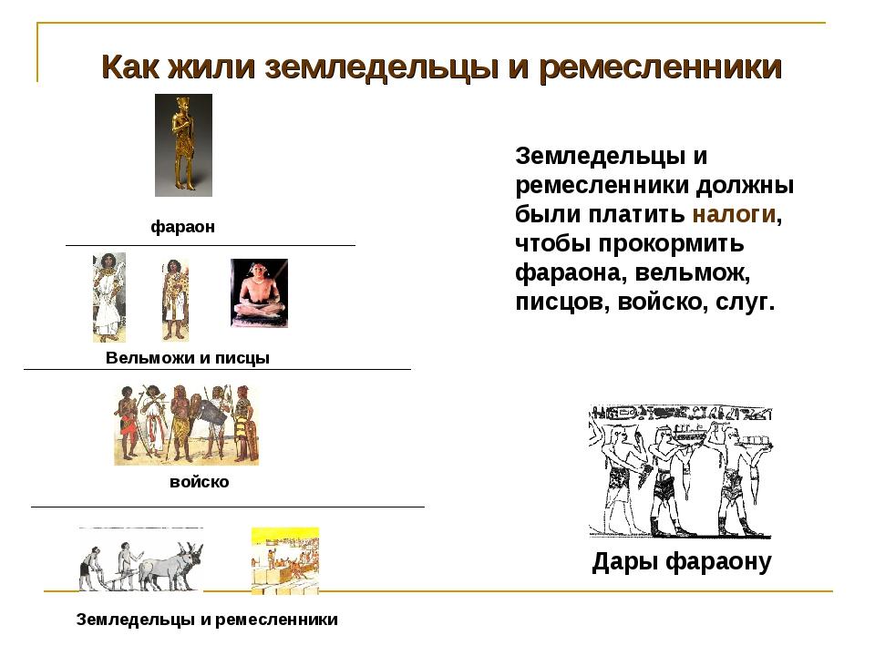 Как жили земледельцы и ремесленники фараон Вельможи и писцы войско Земледельц...