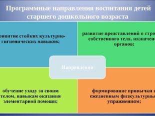 Программные направления воспитания детей старшего дошкольного возраста