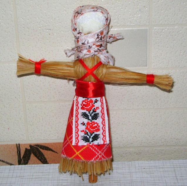 Кукла масленица из соломы своими руками
