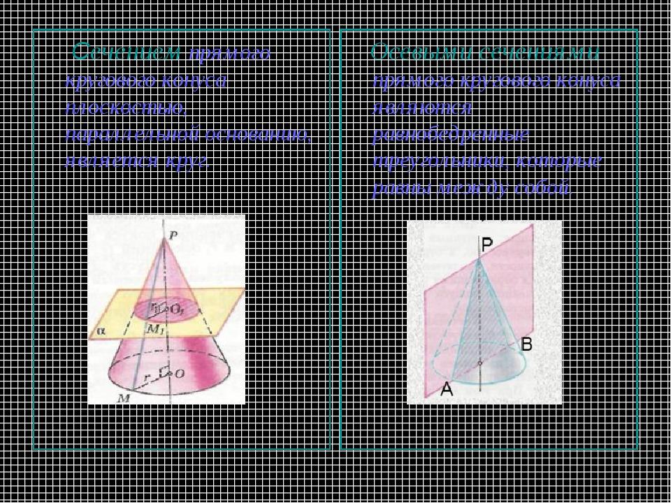 Cечением прямого кругового конуса плоскостью, параллельной основанию, являет...
