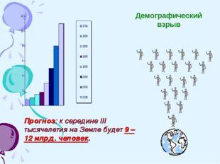 Прогноз: к середине III тысячелетия на Земле будет 9 – 12 млрд. человек. Демо