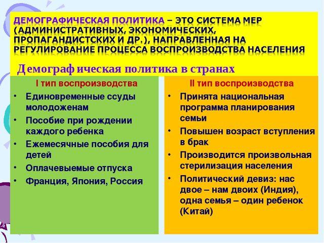 I тип воспроизводства Единовременные ссуды молодоженам Пособие при рождении...