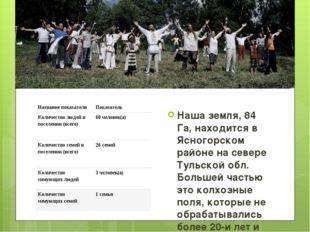 Велесово Наша земля, 84 Га, находится в Ясногорском районе на севере Тульской