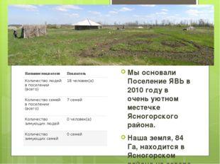 Явь, 2010 Мы основали Поселение ЯВЬ в 2010 году в очень уютном местечке Ясног