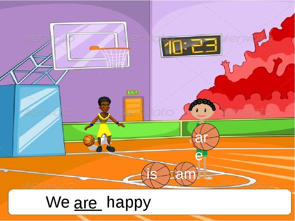 We ___ happy are is am are