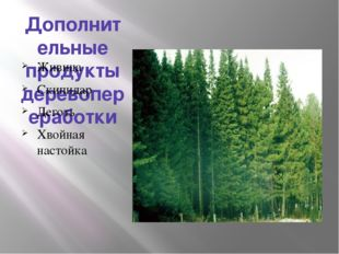 Дополнительные продукты деревопереработки Живица Скипидар Деготь Хвойная наст