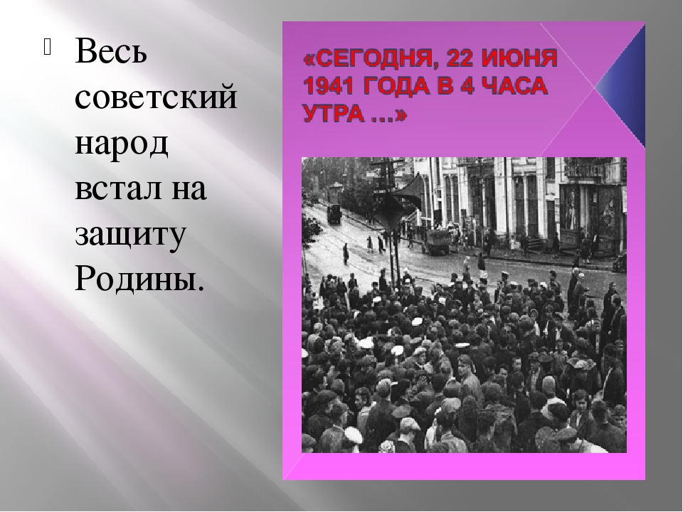 Весь советский народ встал на защиту Родины.