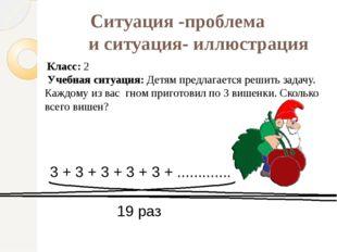 Ситуация -проблема и ситуация- иллюстрация Учебная ситуация: Детям предлагает