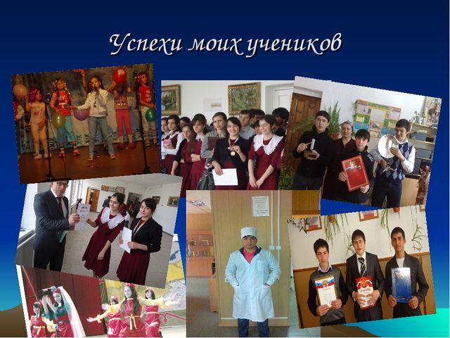 Успехи моих учеников