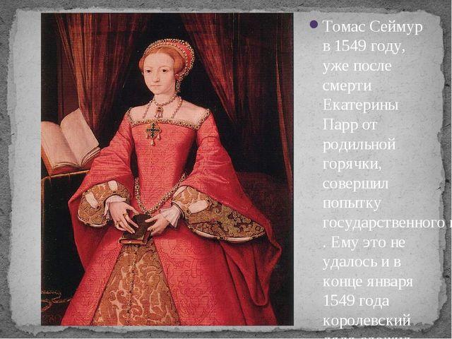 Томас Сеймур в 1549 году, уже после смерти Екатерины Парр от родильной горячк...
