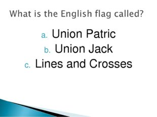 Union Patric Union Jack Lines and Crosses
