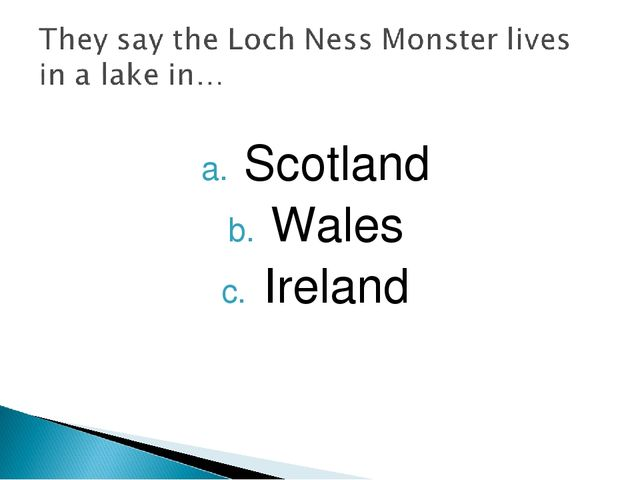 Scotland Wales Ireland