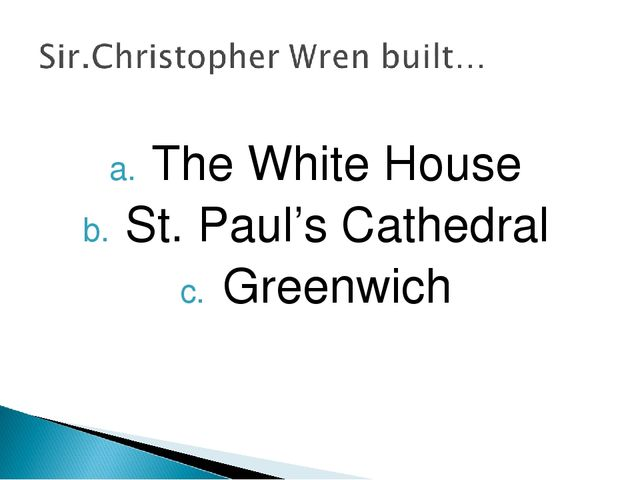 The White House St. Paul's Cathedral Greenwich